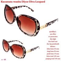 kacamata wanita diyor diva leopard fullset