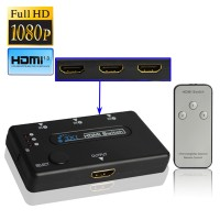 HDMI Switch 3 Port Amplifier 1080P 1.3 Version With Remote Controller