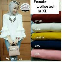 felicia white blouse - tunik - top - atasan putih wanita - baju murah