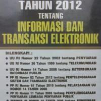 Harga Undang Undang tentang Informasi dan Transaksi Elektronik | WIKIPRICE INDONESIA