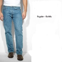 Ispro Random Celana Jeans Pria Regular Fit Birumuda