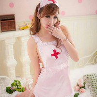 Lingerie Sexy Hot Cosplay Nurse Pink BEL-094