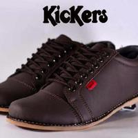 Sepatu Gaya / Sepatu Kickers Shaka Brown Coklat / Sepatu Kuliah Kerja