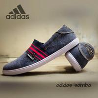 Sepatu Gaya / Sepatu Adidas Slip On Slop Casual Fashion Pria