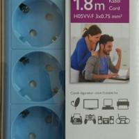 harga Philips Stop Kontak 4 Lubang 1.8m Psk4l18 - Blue Tokopedia.com
