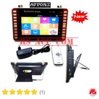 Tv Portable Addons Smart Tv Monitor Cctv + Langsung Dvd 9,8inch Asli