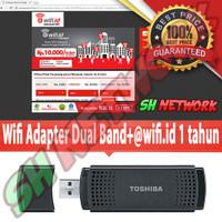 Toshiba dongle usb wifi adapter dual band+Akun wifi id Indihome Fiber