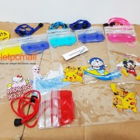 Waterproof Transparan Karakter Universal Smartphone Case