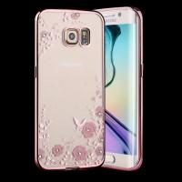 Silicon Soft Case Samsung Galaxy S7 EDGE Flower Bling Diamond Casing