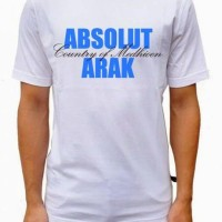 Tshirt / Kaos / Baju Absolute Vodka - Abu Misty