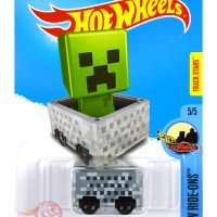 Minecart CREEPER MINECRAFT Track Stars - Hot Wheels HW Hotwheels