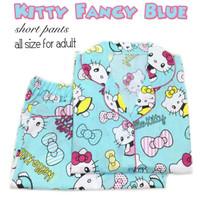 Setelan Baju Tidur / Piyama Dewasa Hello Kitty / Hk Celana Pendek
