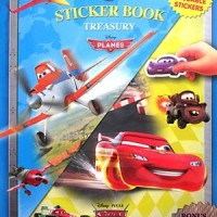 BUKU STIKER - STICKER BOOK TREASURY DISNEY PIXAR PLANES & DISNEY CARS