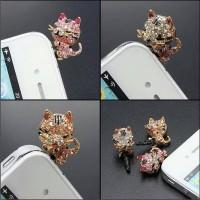 harga Sksesoris Hp Pluggy Bling Cat Diamond 3.5 Mm Earphone Jack Plug Tokopedia.com