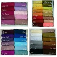 Jilbab / hijab rawis segiempat halus warna warni