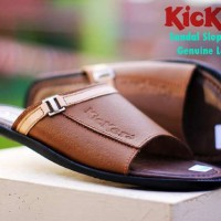harga Sandal Kickers Slope Genuine Leather Series Made In France 100% Kulit Tokopedia.com