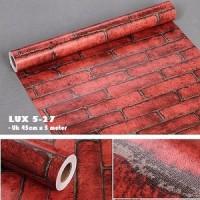 wallpaper dinding rumah stiker bata premium motif batu merah batubata