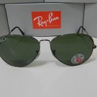 original rayban aviator 3025 004/58 size 58 dan 62 Polarized