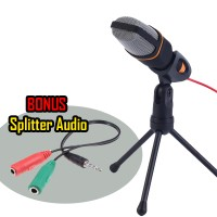Condenser Studio Microphone& & Shock Proof Bonus Splitter