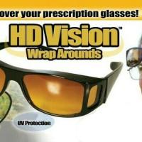 Jual Kacamata Klip On Anti Silau Malam HD Vision Wrap Arounds Murah