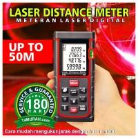 harga Meteran Laser Distance Meter 50m / Alat Ukur Laser / Meteran Digital Tokopedia.com