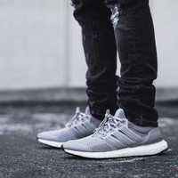 SNEAKERS ADIDAS ULTRA BOOST PRIMEKNIT *WOLFGREY | WHITE