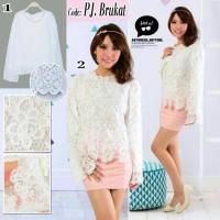blouse brokat longsleeves