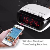 harga Jam weker / alarm digital portable speaker bluetooth Radio micro SD Tokopedia.com