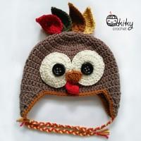 harga Topi Rajut Karakter Ayam Kalkun (Turkey) untuk Bayi usia 0-12 bulan Tokopedia.com