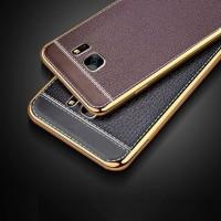 TPU Leather metal bumper case Samsung galaxy Note 4