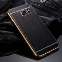 TPU Leather metal bumper case Samsung galaxy S6 Edge