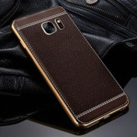 TPU Leather metal bumper case Samsung galaxy s7 edge