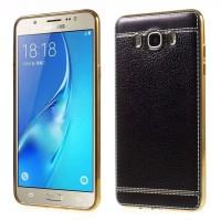 TPU Leather metal bumper case Samsung galaxy j5