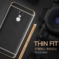 TPU Leather metal bumper case Samsung galaxy Redmi note 3