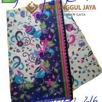 Harga kain batik pekalongan primisima halus cibulan 216 biru unggul | Hargalu.com
