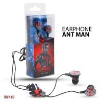 Earphone Marvel Ant Man (AVENGER - HEADSET - RARE ITEM/BARANG LANGKA)