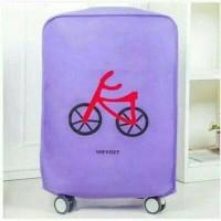 sarung koper cover pelindung koper warna UNGU desain unik harga murah