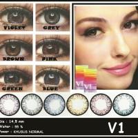 Softlens V1 Xpose / Soft Lens V satu Water 55% dia 14.5mm Colour Lens