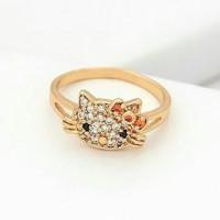 Cincin anak hello kitty gold ( xuping / perhiasan lapis emas )