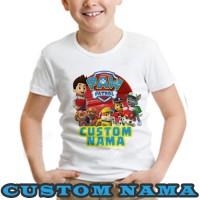 Kaos Distro PAW PATROL anak keluarga pria wanita custom nama