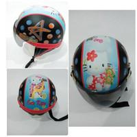 Harga helm anak kecil retro karakter printing hello kitty mtx   antitipu.com