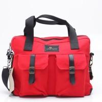 Tas Tangan Hand Bag Pria Merah Red Urban Factor