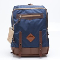 Tas Backpack Pria Biru Navy Cokelat Urban Factor