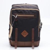 Tas Backpack Pria Biru Cokelat Brown Urban Factor