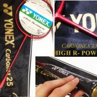 Raket Yonex CARBONEX 25 Merah Extended Petergade Emboss Emas Edition