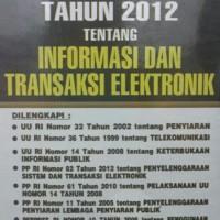 Harga UNDANG UNDANG TENTANG INFORMASI DAN TRANSAKSI ELEKTRONIK   WIKIPRICE INDONESIA