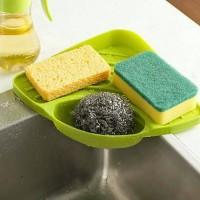 Rak Sink Dapur Tempat Spons Cuci Piring Bentuk Segitiga - HHM403