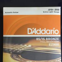 Jual Senar Gitar Akustik D'Addario ukuran 010 EZ900 daddario accoustic Murah