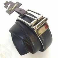 JUAL BELT COACH MEN CUT TO SIZE REVERSIBLE BLACK CROSSGRAIN ORIGINAL