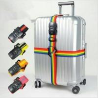 harga Tali Sabuk Pengikat Gembok Koper Kombinasi 3 Angka Dengan Kunci TSA HQ Tokopedia.com